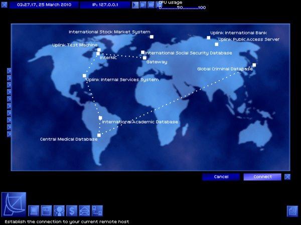 Screenshot von Uplink